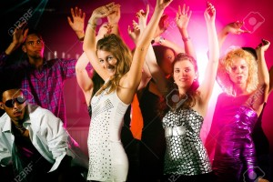 10448789-Dance-action-in-a-disco-club-group-of-friends-men-and-women-of-different-ethnicity-dancing-to-the-mu-Stock-Photo